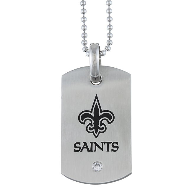 Stainless Steel New Orleans Saints Dog Tag