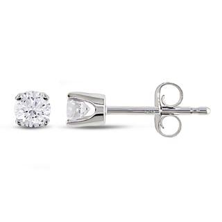 Miadora 14k Gold 1/3ct TDW Certified Diamond Stud Earrings