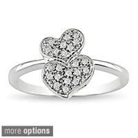 Miadora 10k Gold 1/10ct TDW Diamond Heart Ring