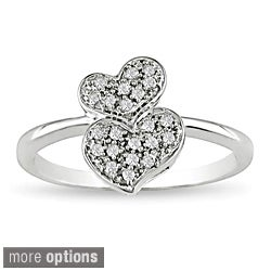 Miadora 10k Gold 1/10ct TDW Diamond Heart Ring (More options available)