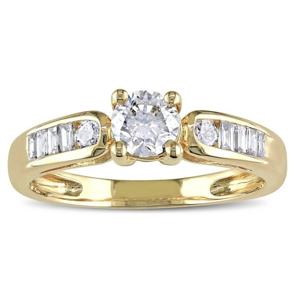 Miadora Signature Collection 14k Yellow Gold 3/4ct TDW Diamond Engagement Ring