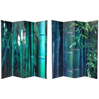 Handmade 6' Canvas Bamboo Tree Room Divider
