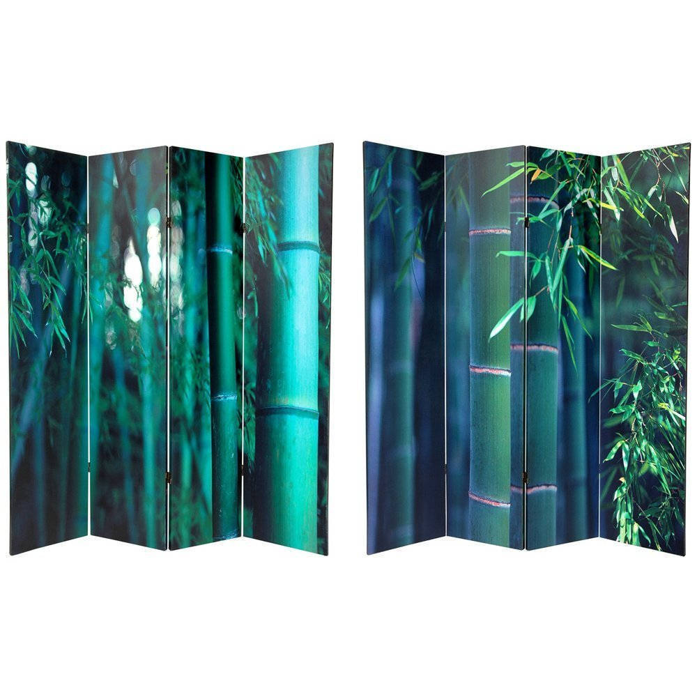 Oriental FURNITURE Handmade Canvas 6-foot Double-sided Ba...