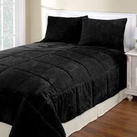 Corduroy 3-piece Comforter Set
