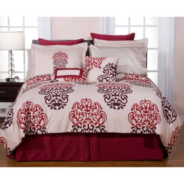 Cherry Blossom 12-piece King-size Bed in a Bag with Sheet Set