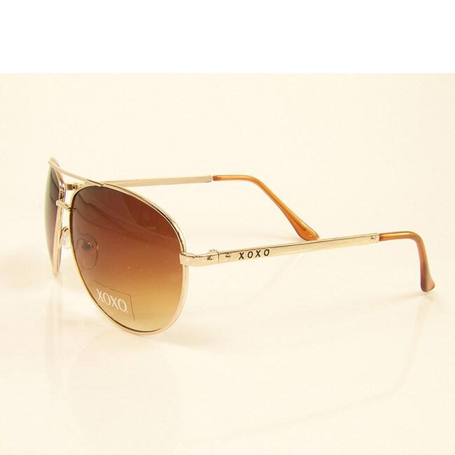XOXO Brown and Gold Venezia Sunglasses