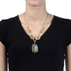 Alexa Starr Goldtone Rutilated Quartz Necklace