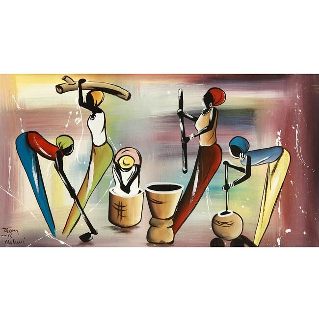 Canvas 'Malawi Working Momma' Canvas Art (Malawi)