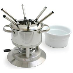 Swissmar F66417 Arosa 11-pc Stainless Fondue Set