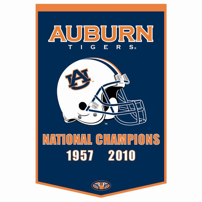 Auburn Tigers 2010 National Championship Wool Dynasty Banner