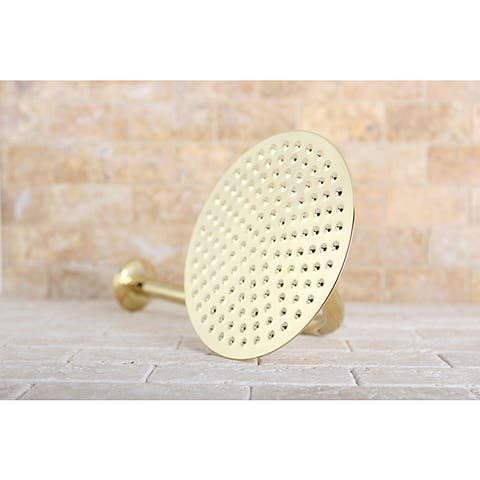 Victorian Polished Brass 8-inch Shower Head w/ Shower Arm