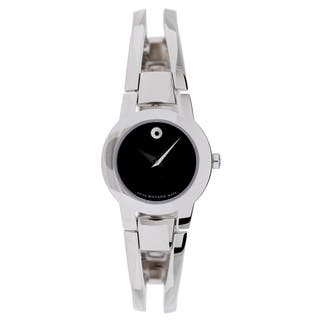 Movado Women's 0604759 Amorosa Stainless Steel Watch https://ak1.ostkcdn.com/images/products/5661703/P13410315.jpg?impolicy=medium