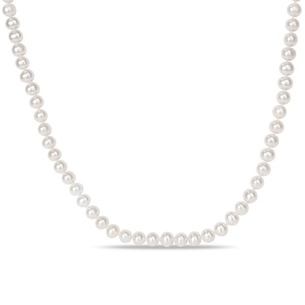 Miadora White 6.5-7mm Cultured Freshwater Pearl Endless Necklace (36-72 inch)