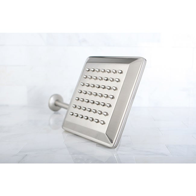 Claremont Satin Nickel 8-in Square Metal Shower Head with Shower Arm