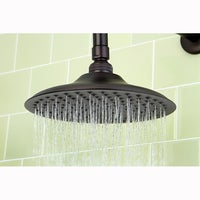 oil rubbed bronze led rain shower head. Victorian Oil Rubbed Bronze 8 inch Shower Head w  Arm High Velocity Air Enhancing Showerhead Free