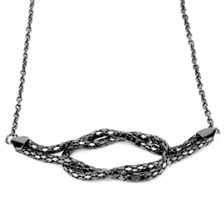 Silvertone Reef Knot Necklace