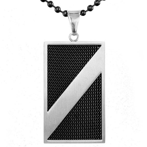Brushed Stainless Steel Dog Tag