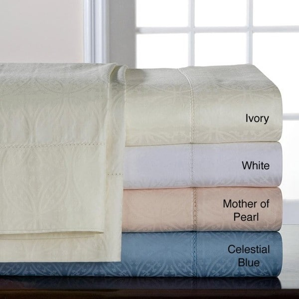 Pima Cotton 650 Thread Count Jacquard Sheet Set