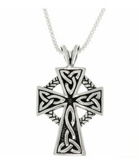 Sterling silver celtic cross double sided pendant free shipping carolina glamour collection antique finish sterling silver celtic cross pendant 18 inch mozeypictures Choice Image