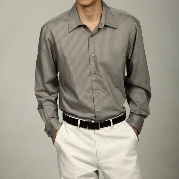 Van heusen men 39 s no iron satin striped woven shirt free for Van heusen iron free shirts