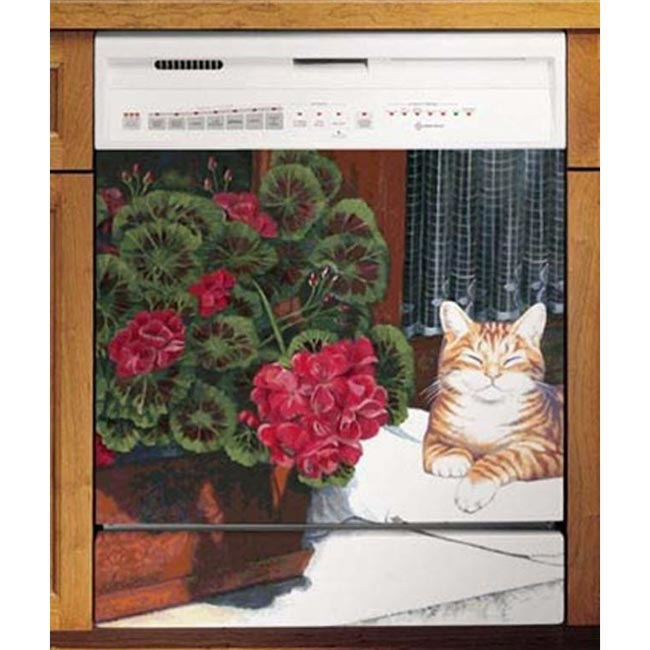Appliance Art Lounging Cat Dishwasher Cover