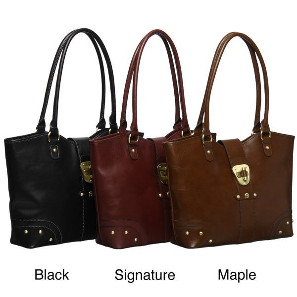Etienne Aigner Corner Office Leather Tote Bag - Free Shipping ...