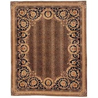 Safavieh Couture Florence Hand-Knotted Asian Leopard Brown/ Black Wool Area Rug - 6' x 9'
