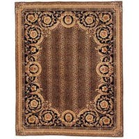 Handmade Safavieh Couture Florence Asian Leopard Brown/ Black Wool Area Rug (China) - 6' x 6' Square