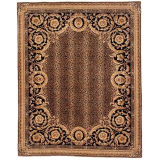 Handmade Safavieh Couture Florence Asian Leopard Brown/ Black Wool Area Rug (China)