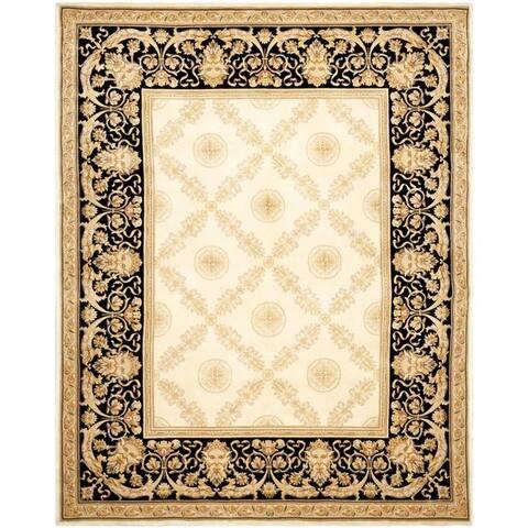 Safavieh Asian Hand-knotted Zeus Trellis Ivory Wool Rug