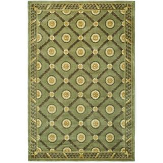 Safavieh Couture Florence Hand-Knotted Trellis Green Wool Area Rug (6' x 9')
