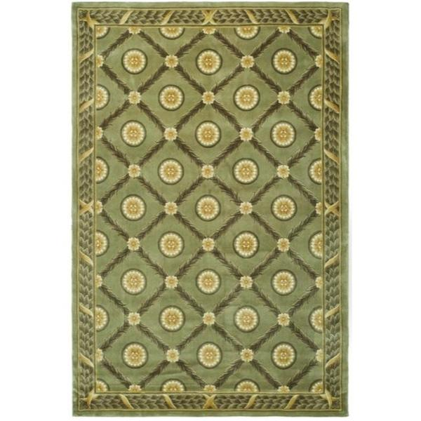 Safavieh Couture Florence Hand Knotted Trellis Green Wool