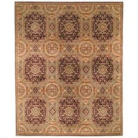 Safavieh Couture Florence Hand-Knotted Royalty Beige/ Purple Wool Area Rug (8' x 10')