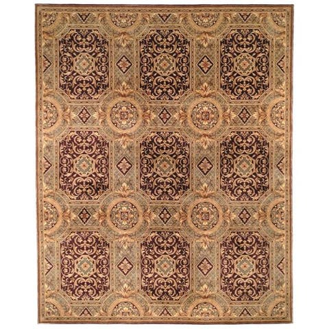 Safavieh Asian Hand-knotted Royalty Beige Wool Rug