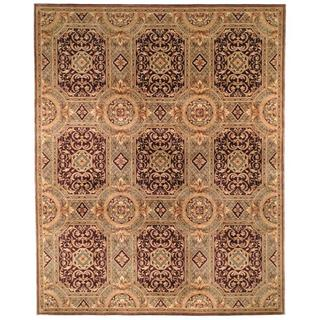 Safavieh Couture Florence Hand-Knotted Royalty Beige/ Purple Wool Area Rug (8' Square)