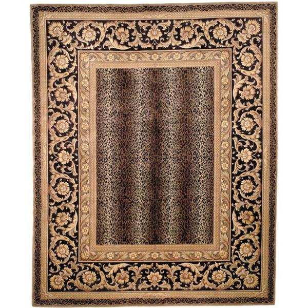 Safavieh Couture Florence Hand-Knotted Leopard Beige/ Black Wool Area Rug (10' x 14')