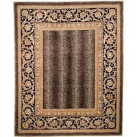 Safavieh Couture Florence Hand-Knotted Leopard Beige/ Black Wool Area Rug (8' Square)
