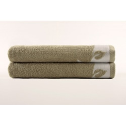 Turkish Cotton Printed Bath Towels (Set of 2) - Thumbnail 1