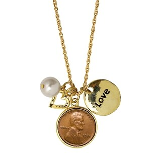 American Coin Treasures Love and Charms Lincoln Penny Pendant