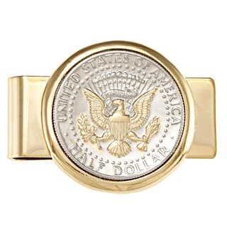 American Coin Treasures Selectively Gold-plated Presidential Seal JFK Half Dollar Goldtone Money Cli|https://ak1.ostkcdn.com/images/products/5663429/5663429/American-Coin-Treasures-Selectively-Gold-layered-Presidential-Seal-JFK-Half-Dollar-Goldtone-Money-Clip-P13411583.jpg?impolicy=medium