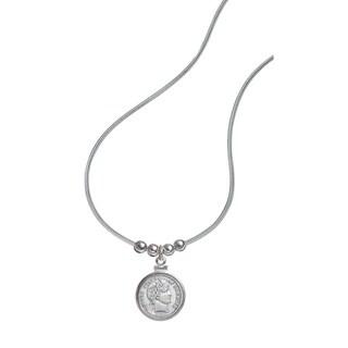 American Coin Treasures Sterling Silver Barber Dime Pendant
