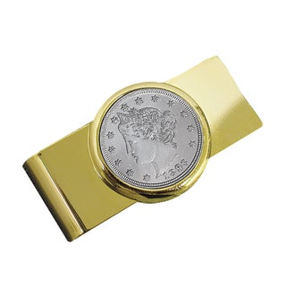 American Coin Treasures Liberty Nickel Moneyclip - Gold/Silver
