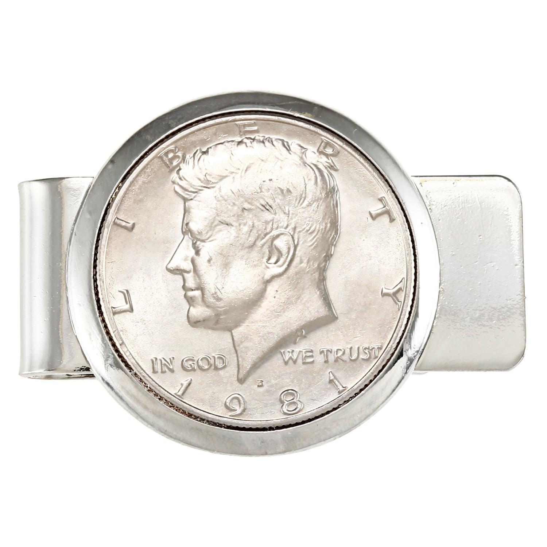 American Coin Treasures Silvertone JFK Half Dollar Money ...
