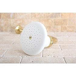 Victorian Ceramic Polished Brass 5-inch Shower Head w/ Shower Arm