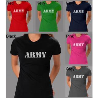 Los Angeles Pop Art Women's Army T-shirt