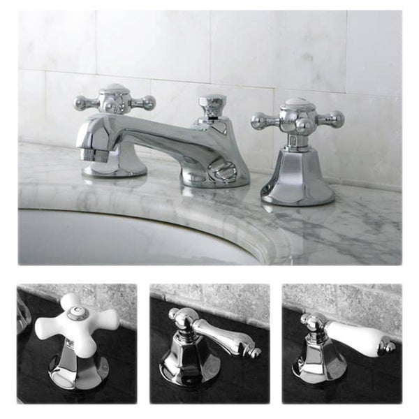 Shop Metropolitan Chrome Widespread Bathroom Faucet - Free Shipping ...