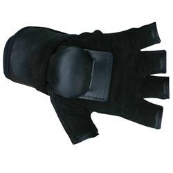 MBS Medium Half-finger Black Hillbilly Wrist Guard Gloves