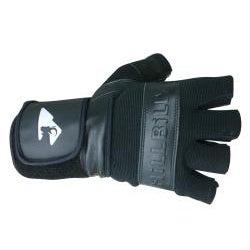 MBS Large Half-finger Black Hillbilly Wrist Guard Gloves - Thumbnail 1