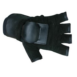 MBS Large Half-finger Black Hillbilly Wrist Guard Gloves - Thumbnail 0