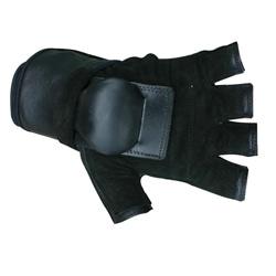 MBS Extra Large Half-finger Black Hillbilly Wrist Guard Gloves - Thumbnail 0